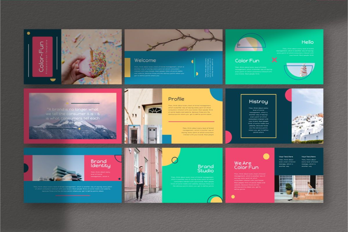 Color Fun Powerpoint Template, Slide 3, 06808, Business Models — PoweredTemplate.com