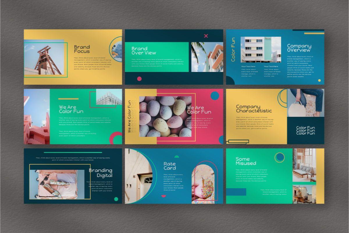 Color Fun Google Slides Template, Slide 4, 06810, Business Models — PoweredTemplate.com