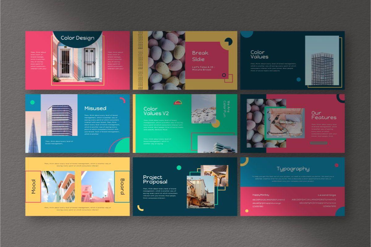 Color Fun Google Slides Template, Slide 5, 06810, Business Models — PoweredTemplate.com