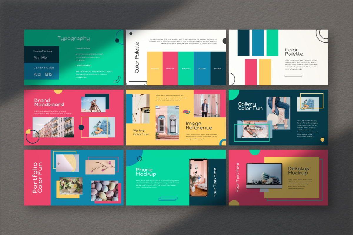 Color Fun Google Slides Template, Slide 6, 06810, Business Models — PoweredTemplate.com