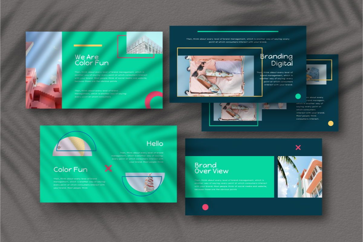 Color Fun Google Slides Template, Slide 8, 06810, Business Models — PoweredTemplate.com