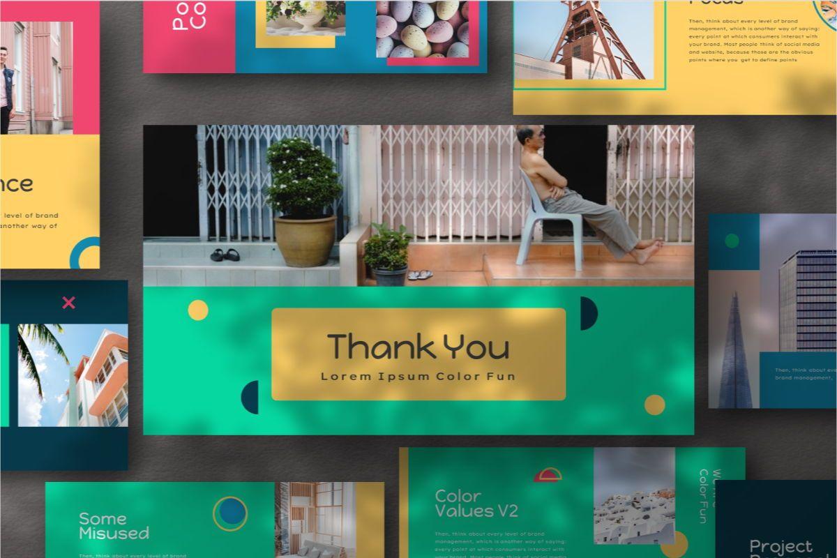Color Fun Google Slides Template, Slide 9, 06810, Business Models — PoweredTemplate.com