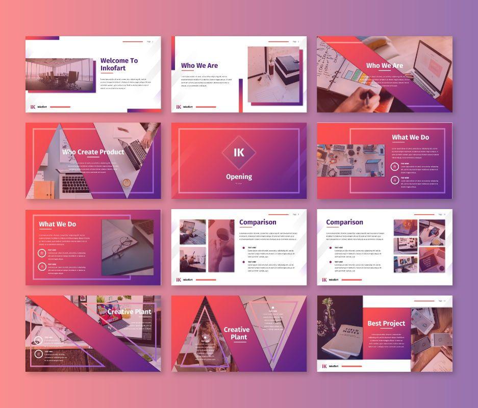 Inkofart - Multi Purpose Google Slides Template, Slide 2, 06811, Business Models — PoweredTemplate.com