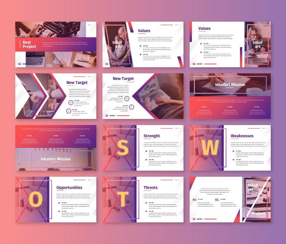 Inkofart - Multi Purpose Google Slides Template, Slide 3, 06811, Business Models — PoweredTemplate.com