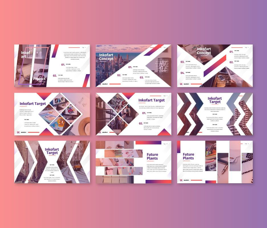 Inkofart - Multi Purpose Google Slides Template, Slide 4, 06811, Business Models — PoweredTemplate.com