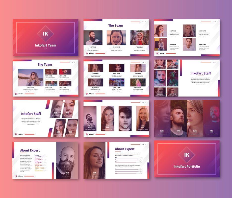 Inkofart - Multi Purpose Google Slides Template, Slide 5, 06811, Business Models — PoweredTemplate.com