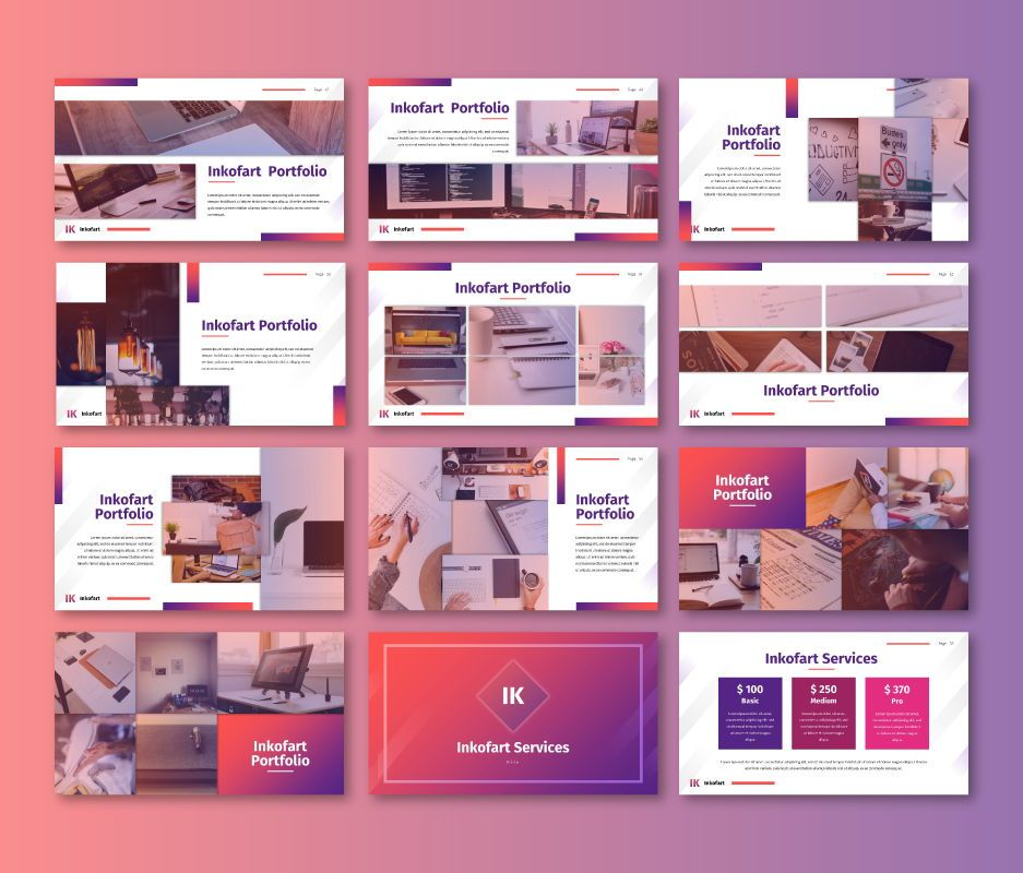 Inkofart - Multi Purpose Google Slides Template, Slide 6, 06811, Business Models — PoweredTemplate.com