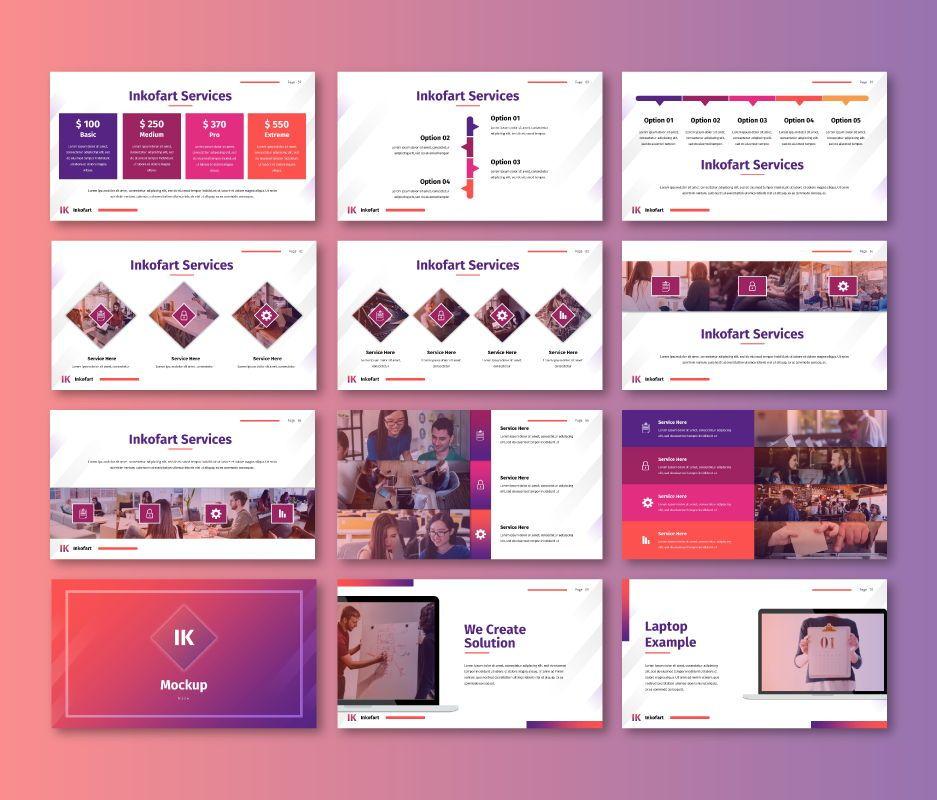 Inkofart - Multi Purpose Google Slides Template, Slide 7, 06811, Business Models — PoweredTemplate.com