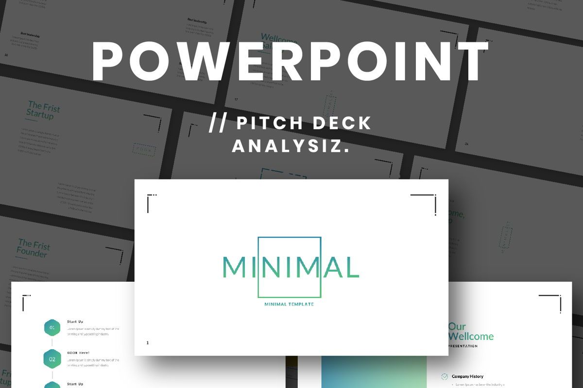 Minimal Business Powerpoint, 06813, Presentation Templates — PoweredTemplate.com