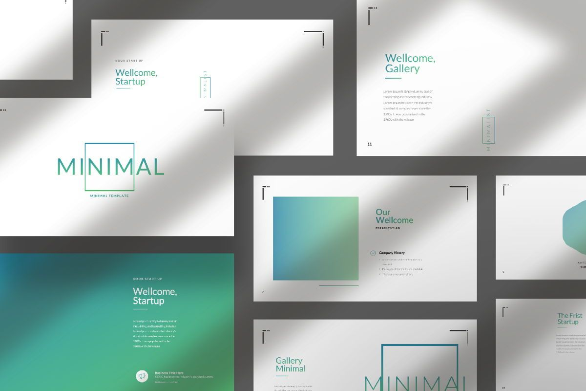 Minimal Business Powerpoint, Slide 10, 06813, Presentation Templates — PoweredTemplate.com