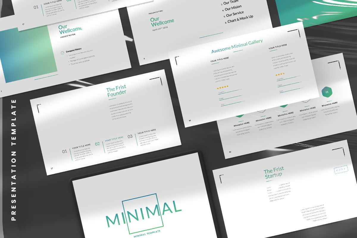 Minimal Business Powerpoint, Slide 11, 06813, Presentation Templates — PoweredTemplate.com