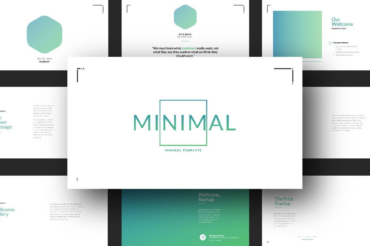 Minimal Business Powerpoint, Slide 13, 06813, Presentation Templates — PoweredTemplate.com