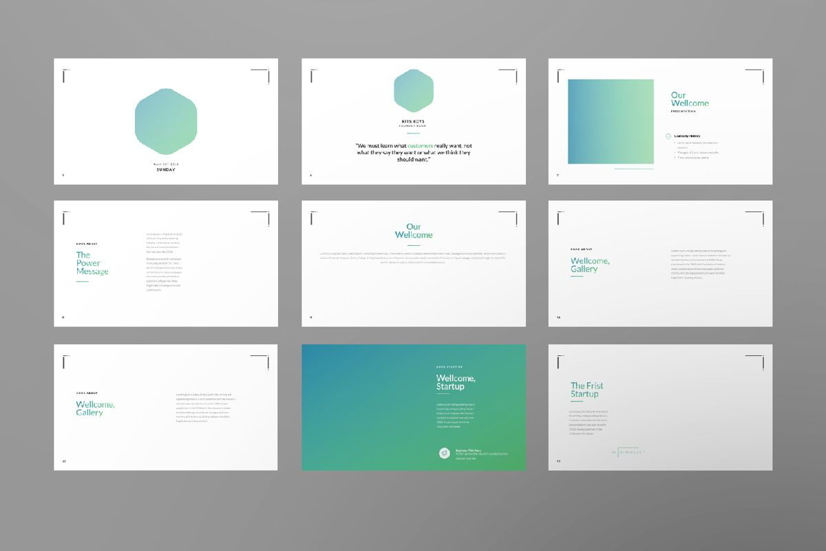 Minimal Business Powerpoint, Slide 2, 06813, Presentation Templates — PoweredTemplate.com