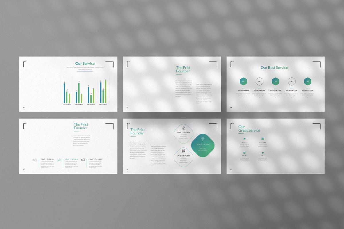 Minimal Business Powerpoint, Slide 4, 06813, Presentation Templates — PoweredTemplate.com