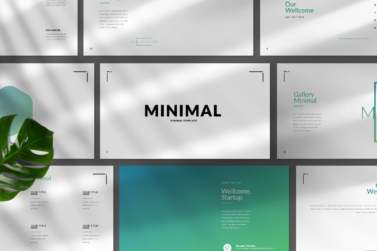 Minimal Business Powerpoint, Slide 9, 06813, Presentation Templates — PoweredTemplate.com