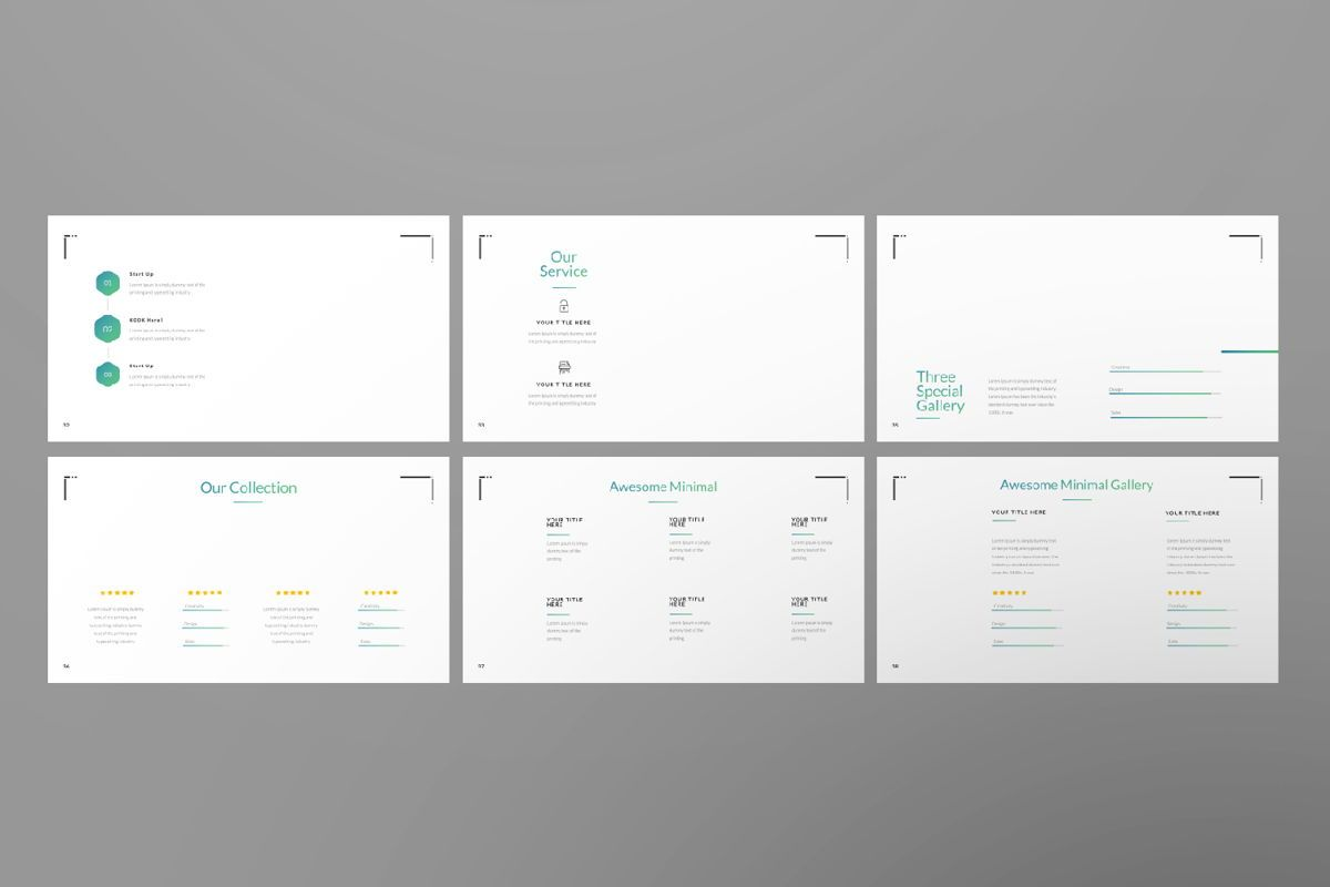 Minimal Business Google Slide, Slide 6, 06815, Presentation Templates — PoweredTemplate.com