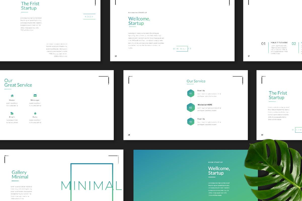 Minimal Business Google Slide, Slide 8, 06815, Presentation Templates — PoweredTemplate.com