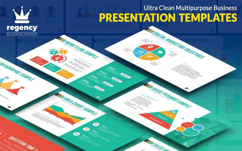 Regency PowerPoint Template, 06821, Infographics — PoweredTemplate.com
