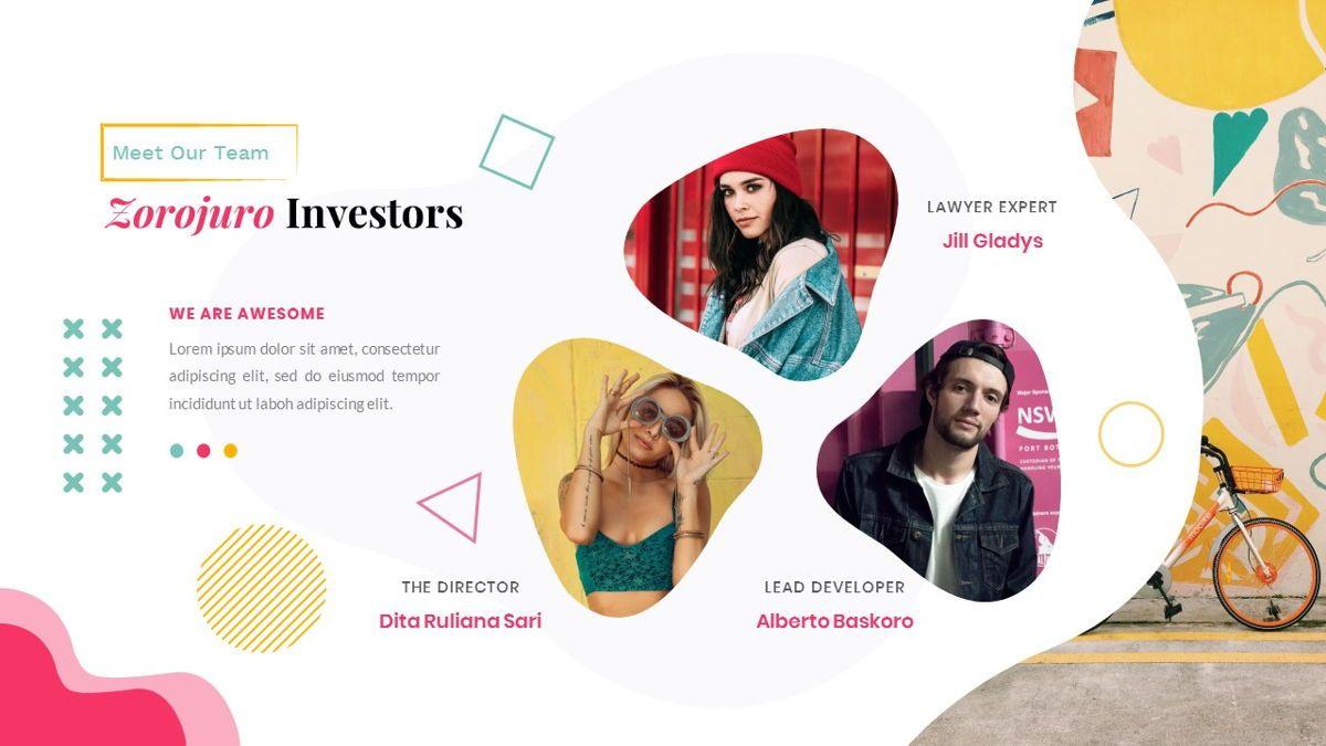 Zorojuro – Creative Business Pop Art Google Slides Template, Slide 13, 06822, Presentation Templates — PoweredTemplate.com