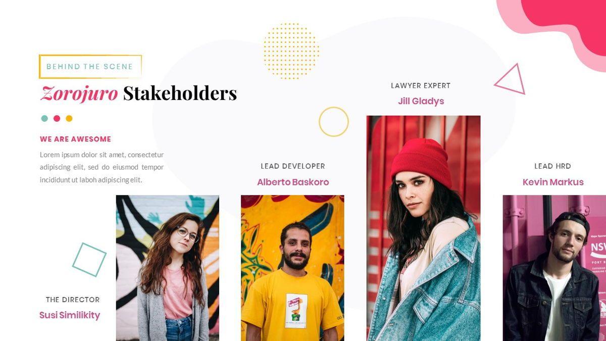 Zorojuro – Creative Business Pop Art Google Slides Template, Slide 14, 06822, Presentation Templates — PoweredTemplate.com
