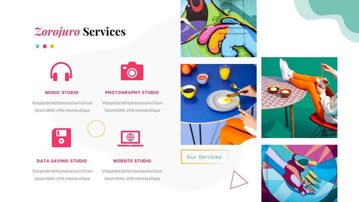 Zorojuro – Creative Business Pop Art Google Slides Template, Slide 19, 06822, Presentation Templates — PoweredTemplate.com
