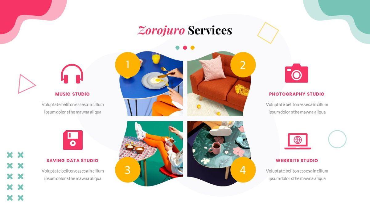 Zorojuro – Creative Business Pop Art Google Slides Template, Slide 20, 06822, Presentation Templates — PoweredTemplate.com