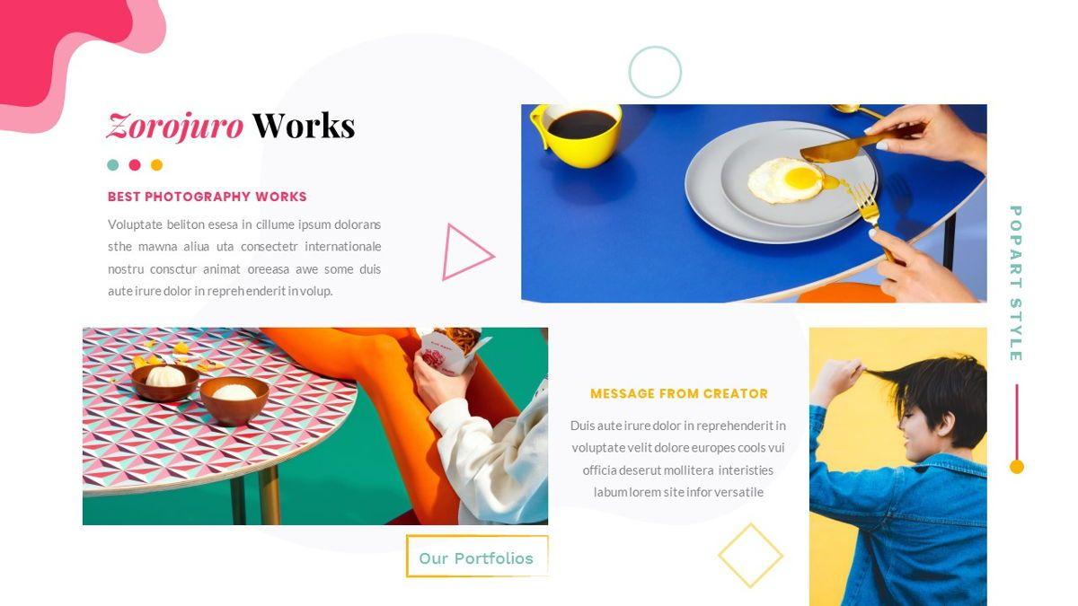 Zorojuro – Creative Business Pop Art Google Slides Template, Slide 24, 06822, Presentation Templates — PoweredTemplate.com