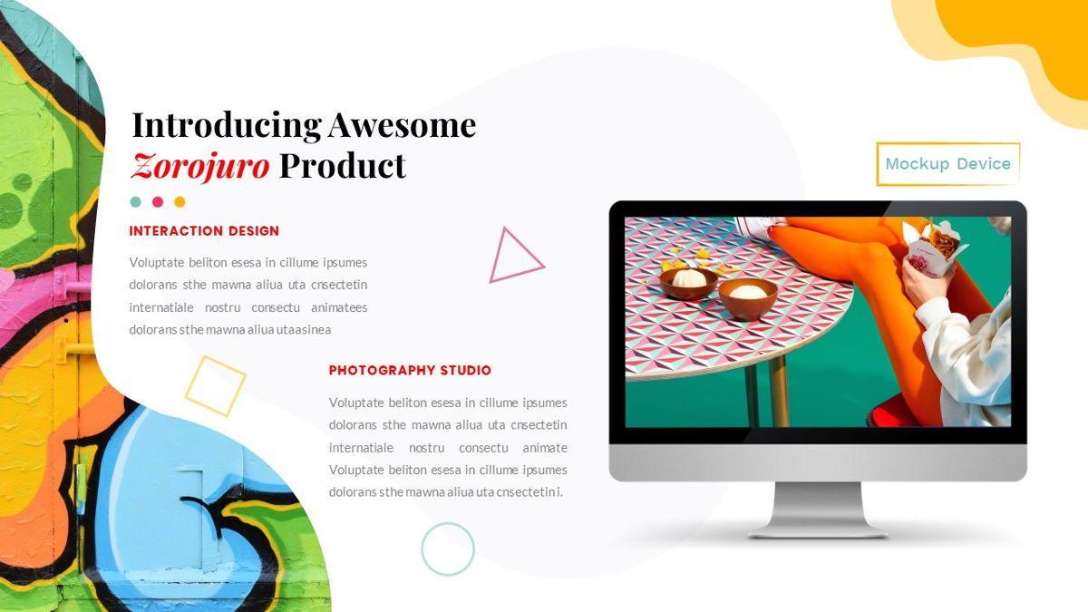 Zorojuro – Creative Business Pop Art Google Slides Template, Slide 29, 06822, Presentation Templates — PoweredTemplate.com
