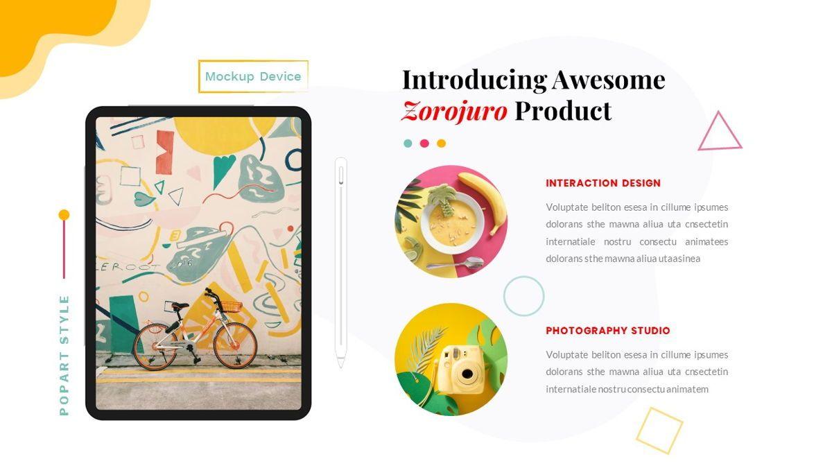 Zorojuro – Creative Business Pop Art Google Slides Template, Slide 30, 06822, Presentation Templates — PoweredTemplate.com
