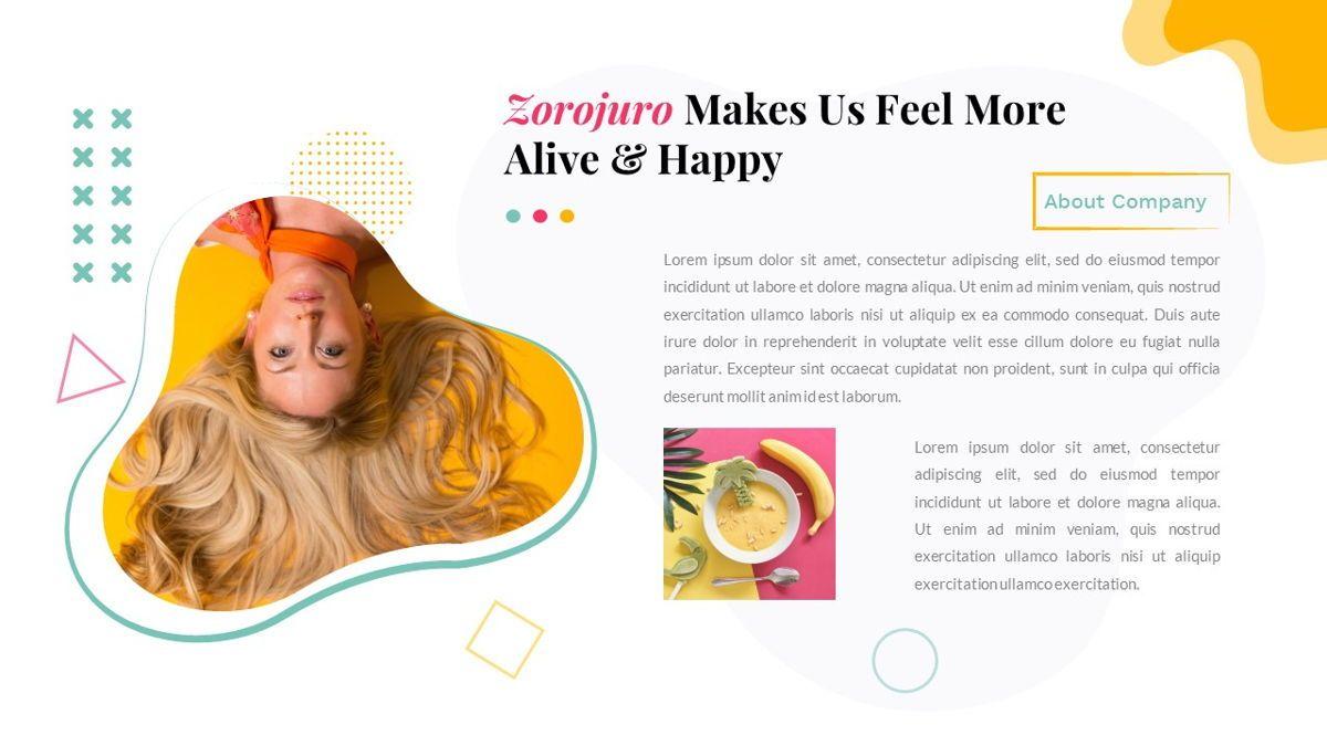 Zorojuro – Creative Business Pop Art Google Slides Template, Slide 5, 06822, Presentation Templates — PoweredTemplate.com