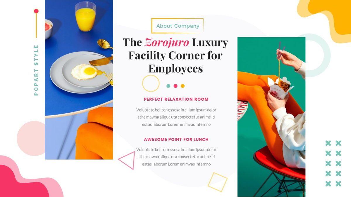 Zorojuro – Creative Business Pop Art Google Slides Template, Slide 9, 06822, Presentation Templates — PoweredTemplate.com