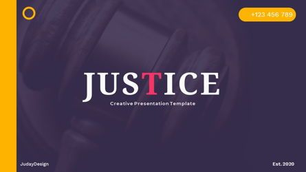 Presentation Templates: Justice – Creative Business PowerPoint Template #06823