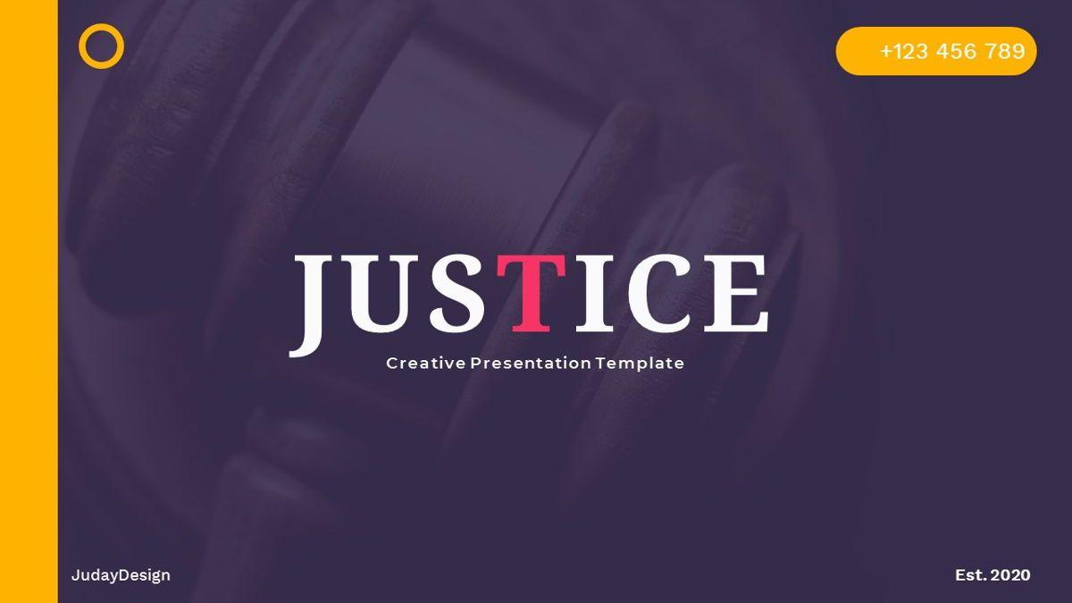 Justice – Creative Business PowerPoint Template, 06823, Presentation Templates — PoweredTemplate.com