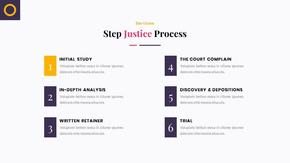 Justice – Creative Business PowerPoint Template, Slide 12, 06823, Presentation Templates — PoweredTemplate.com