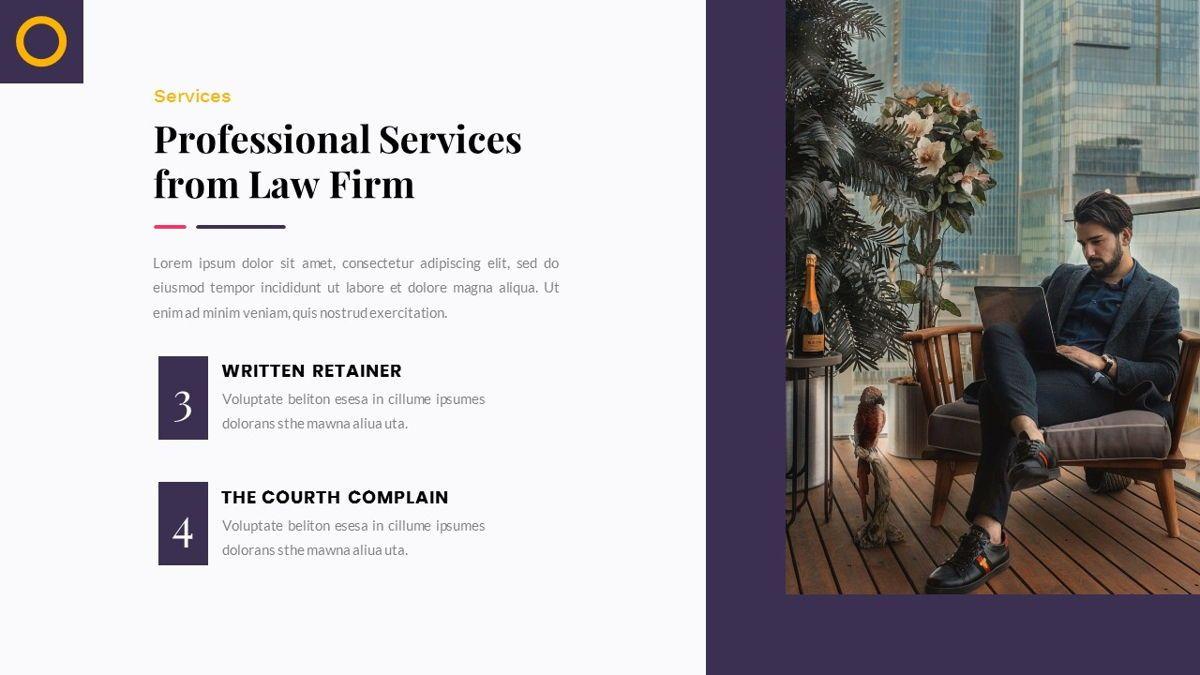 Justice – Creative Business PowerPoint Template, Slide 14, 06823, Presentation Templates — PoweredTemplate.com