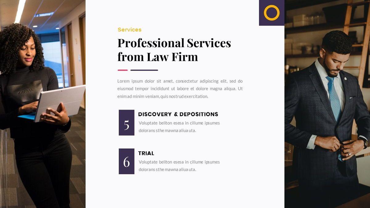 Justice – Creative Business PowerPoint Template, Slide 15, 06823, Presentation Templates — PoweredTemplate.com