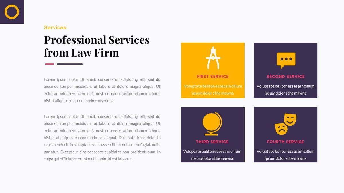 Justice – Creative Business PowerPoint Template, Slide 16, 06823, Presentation Templates — PoweredTemplate.com