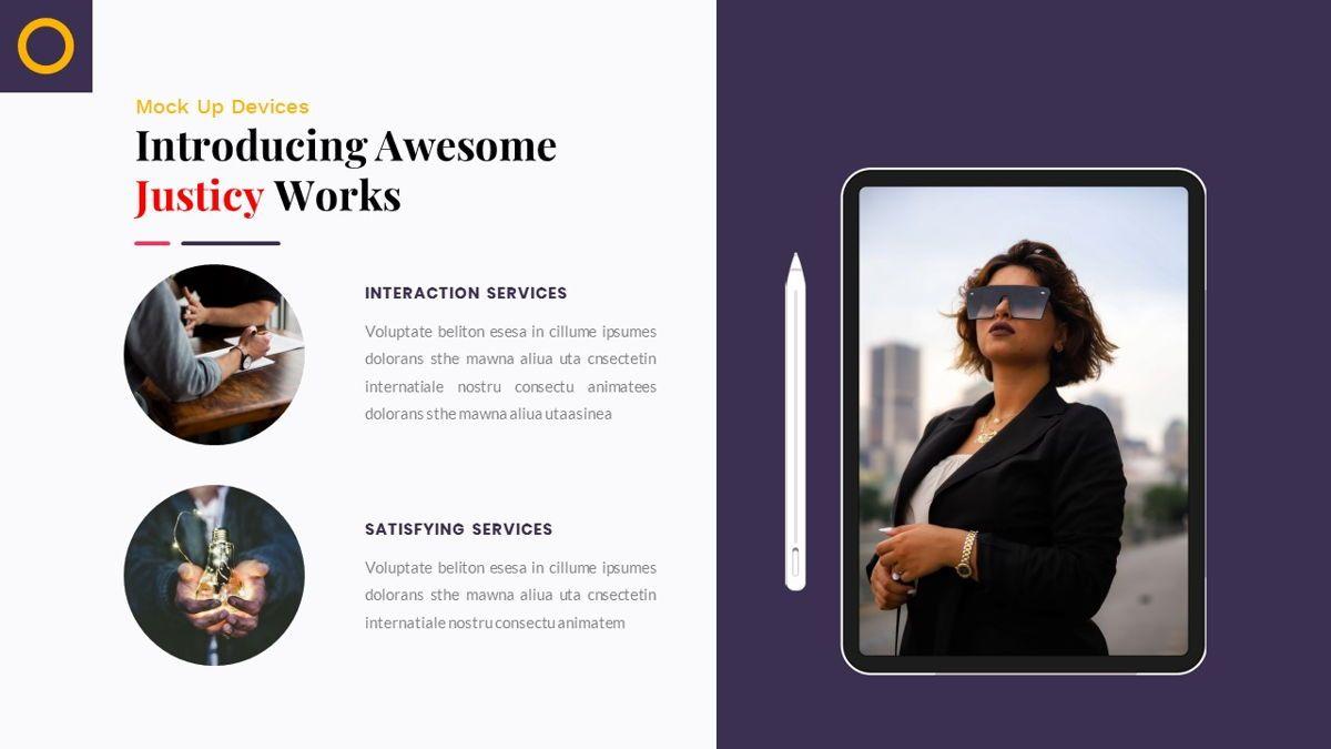 Justice – Creative Business PowerPoint Template, Slide 24, 06823, Presentation Templates — PoweredTemplate.com