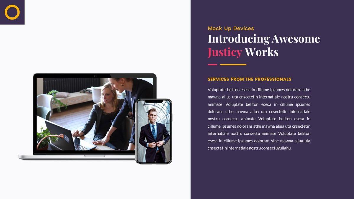 Justice – Creative Business PowerPoint Template, Slide 25, 06823, Presentation Templates — PoweredTemplate.com