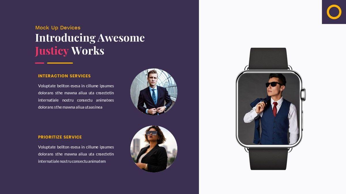 Justice – Creative Business PowerPoint Template, Slide 27, 06823, Presentation Templates — PoweredTemplate.com