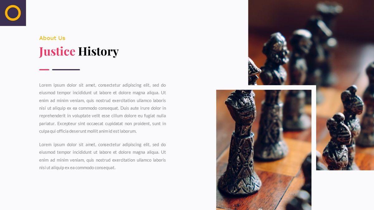 Justice – Creative Business PowerPoint Template, Slide 4, 06823, Presentation Templates — PoweredTemplate.com