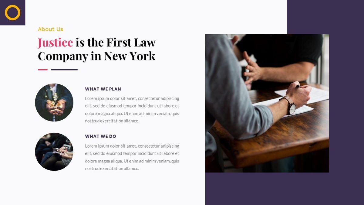Justice – Creative Business PowerPoint Template, Slide 7, 06823, Presentation Templates — PoweredTemplate.com