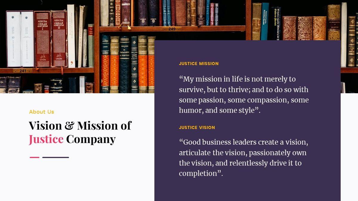Justice – Creative Business Google Slides Template, Slide 5, 06824, Presentation Templates — PoweredTemplate.com