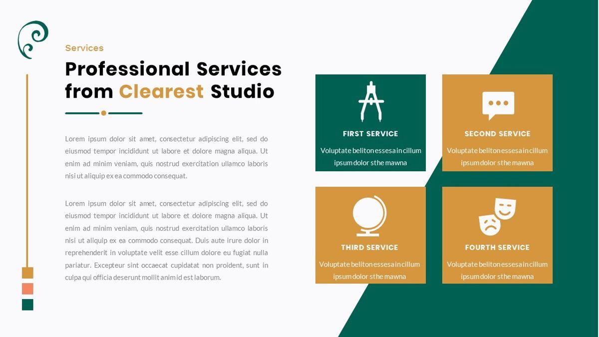Clearest – Creative Business PowerPoint Template, Slide 16, 06825, Presentation Templates — PoweredTemplate.com