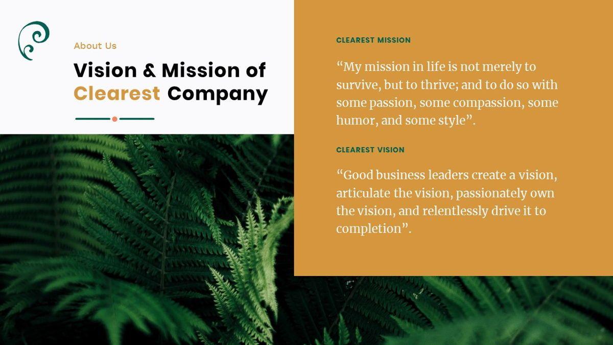 Clearest – Creative Business PowerPoint Template, Slide 5, 06825, Presentation Templates — PoweredTemplate.com