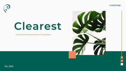 Presentation Templates: Clearest – Creative Business Google Slides Template #06826