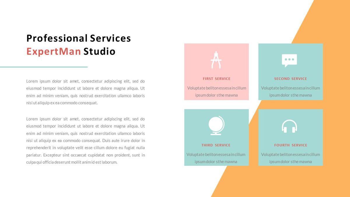ExpertMan – Creative Pop Art Business PowerPoint Template, Slide 16, 06827, Presentation Templates — PoweredTemplate.com