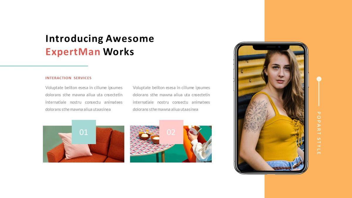 ExpertMan – Creative Pop Art Business PowerPoint Template, Slide 24, 06827, Presentation Templates — PoweredTemplate.com