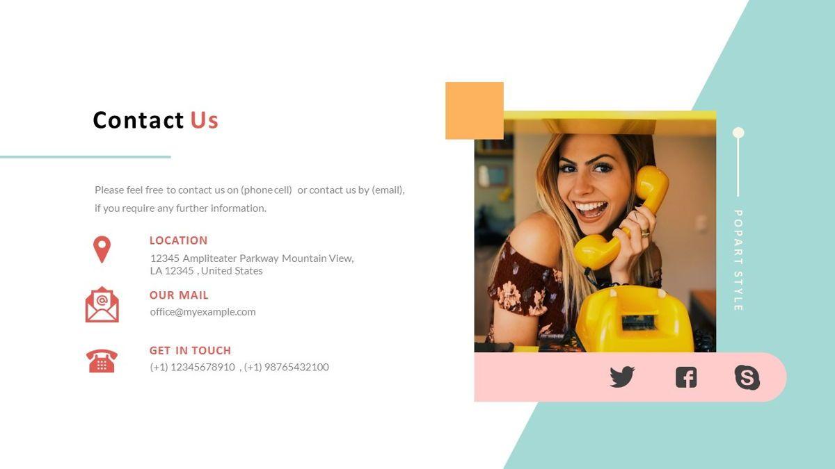 ExpertMan – Creative Pop Art Business PowerPoint Template, Slide 34, 06827, Presentation Templates — PoweredTemplate.com