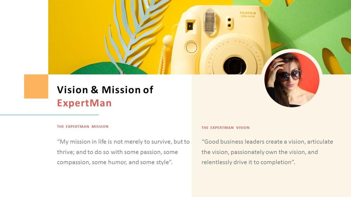 ExpertMan – Creative Pop Art Business PowerPoint Template, Slide 4, 06827, Presentation Templates — PoweredTemplate.com